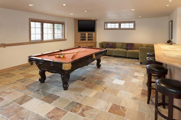 Billiards Room in Finished Basement