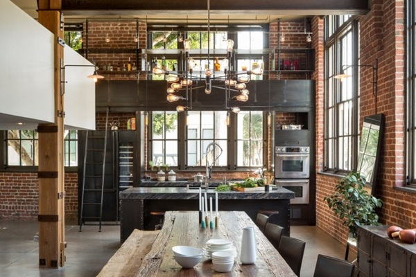 Industrial kitchen designs 10