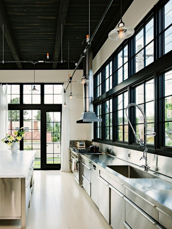 Industrial kitchen designs 12