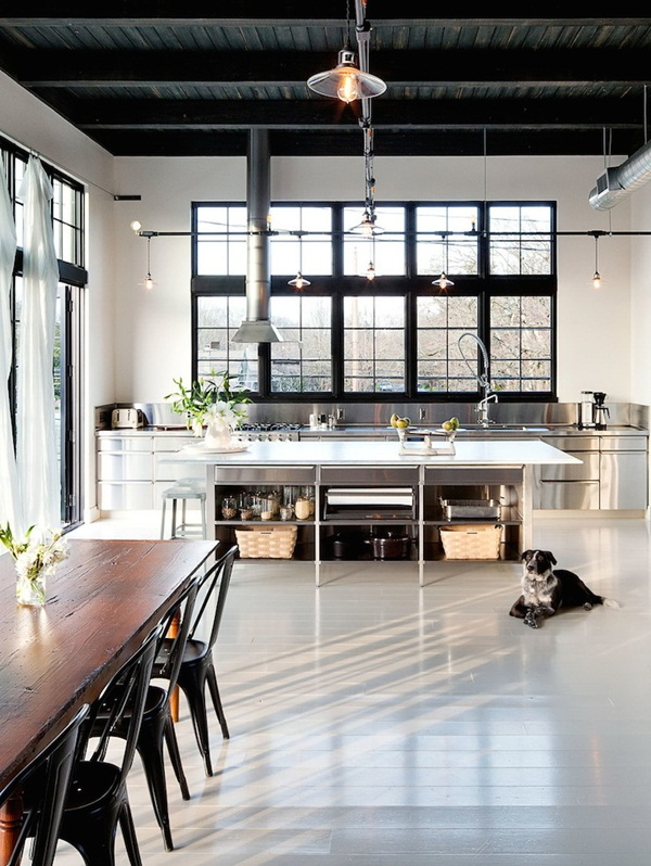 Industrial kitchen designs 13