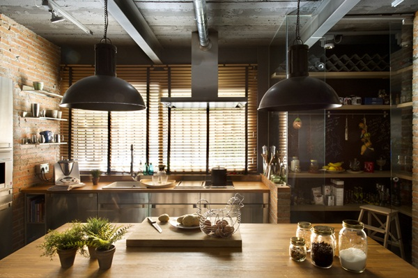 Industrial kitchen designs 16