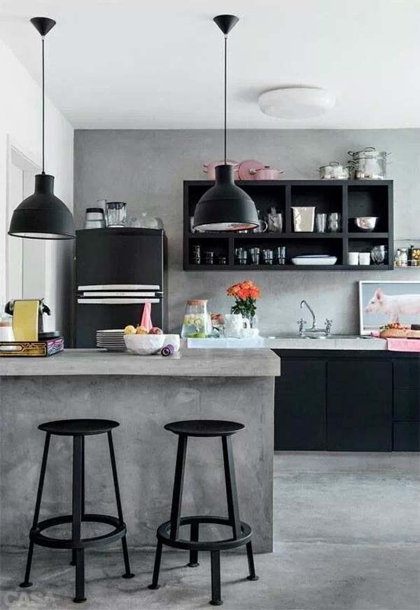Industrial kitchen designs 43