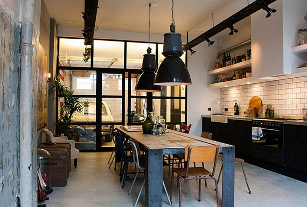 Industrial kitchen designs 50