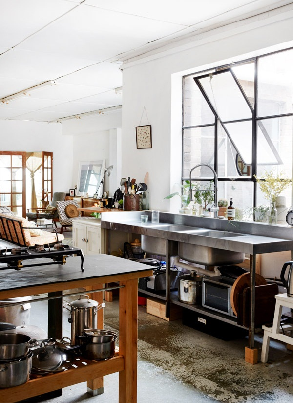 Industrial kitchen designs 54