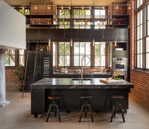 Industrial kitchen designs 6
