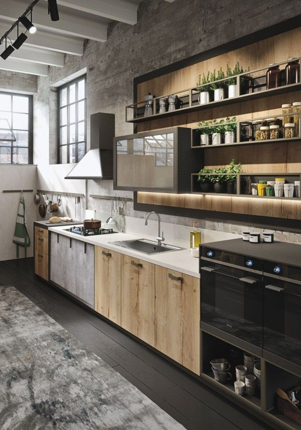 Industrial kitchen designs 8
