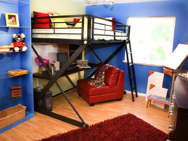 Loft bed design for small rooms1