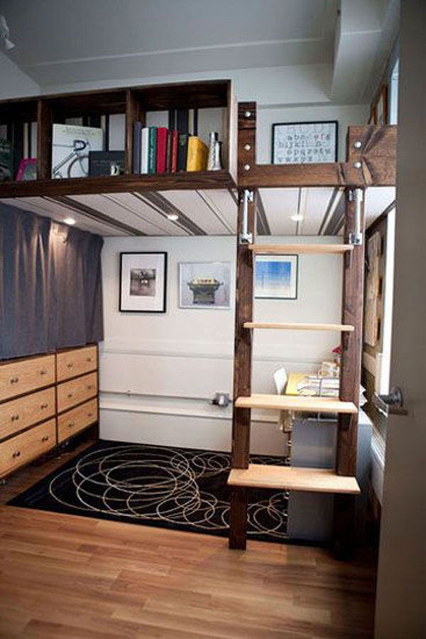 Loft bed design for small rooms23