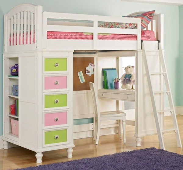 Loft bed design for small rooms42
