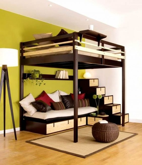 Loft bed design for small rooms6