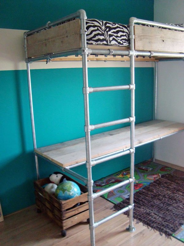 Loft bed design for small rooms61