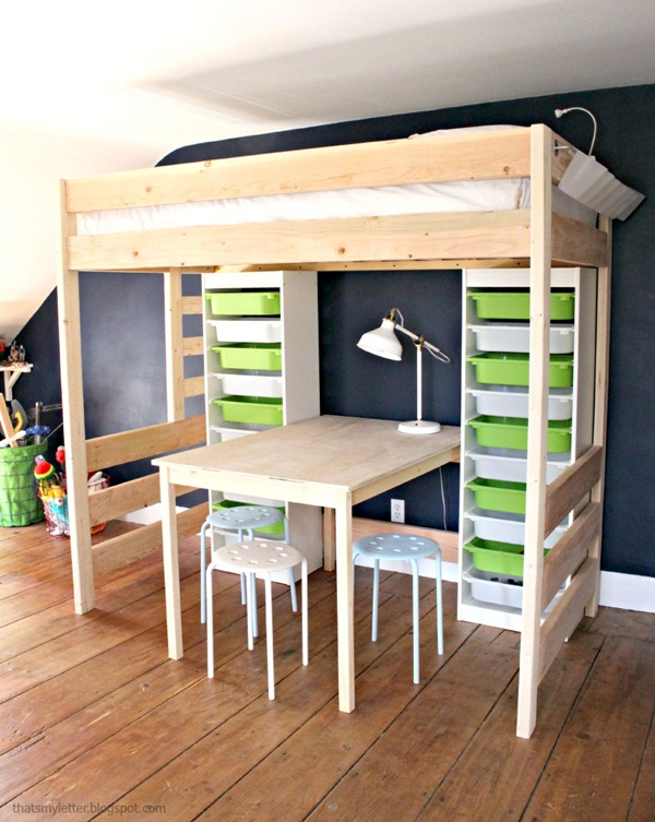 Loft bed design for small rooms68