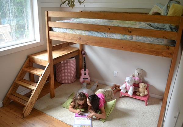 Loft bed design for small rooms70