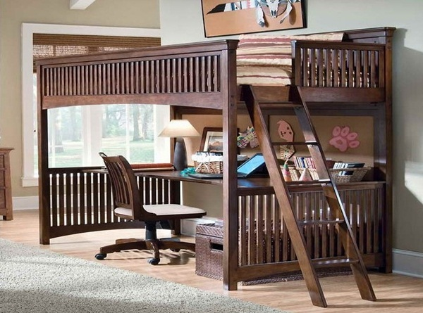 Loft bed design for small rooms75