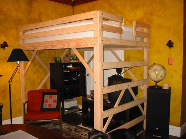 loft bed design for small rooms76