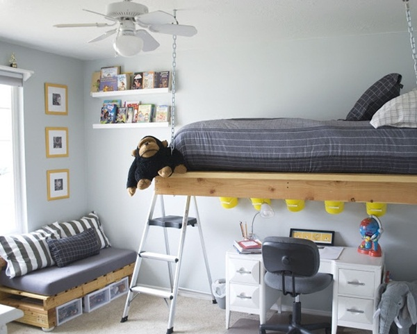 Loft bed design for small rooms78