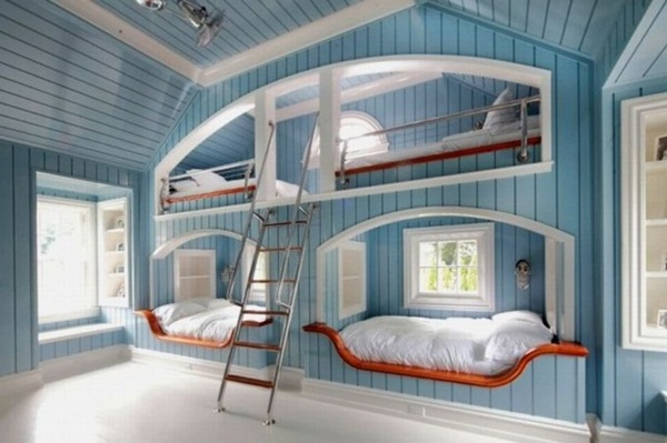Loft bed design for small rooms80
