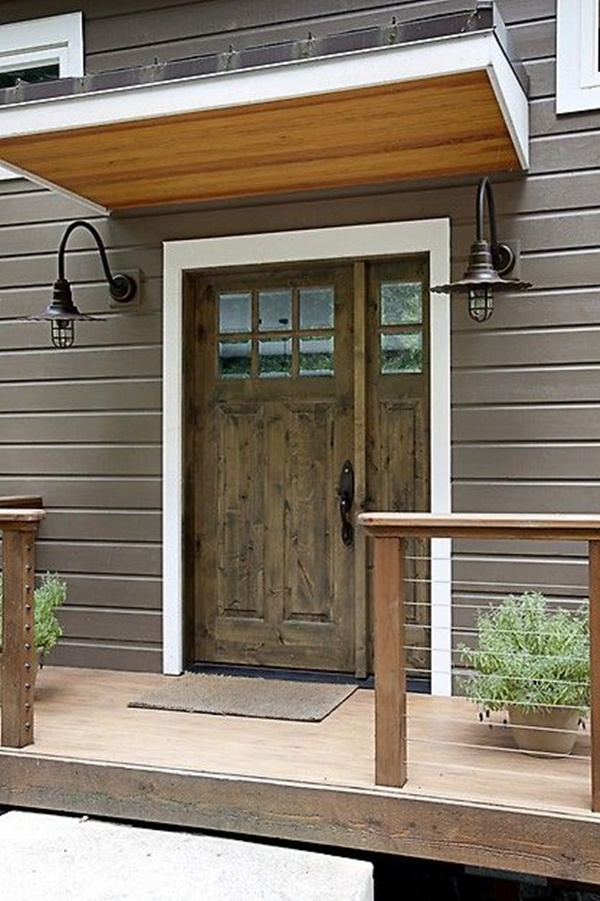 80 alluring front door designs to refine your home for Simple wooden front door designs
